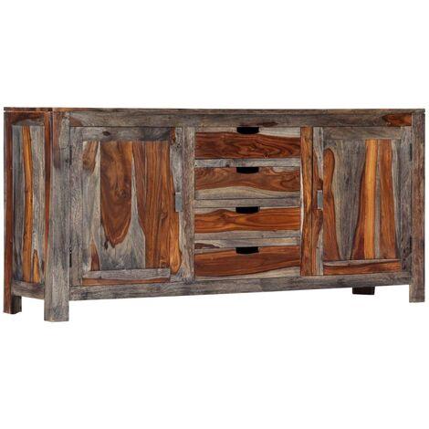 Sideboard Grey 160x40x75 cm Solid Sheesham Wood