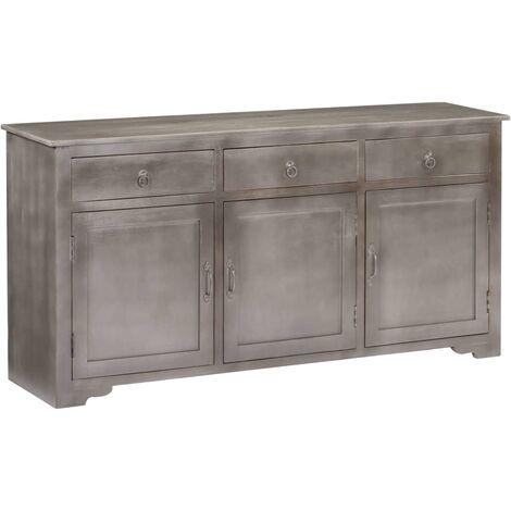 Sideboard Grey 160x40x80 cm Solid Mango Wood