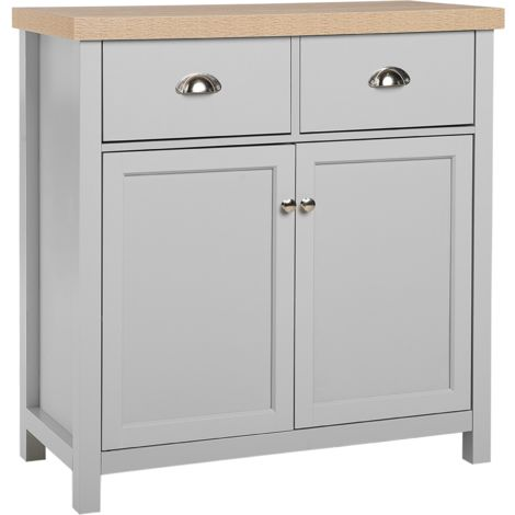 Sideboard Grey with Light Wood CLIO
