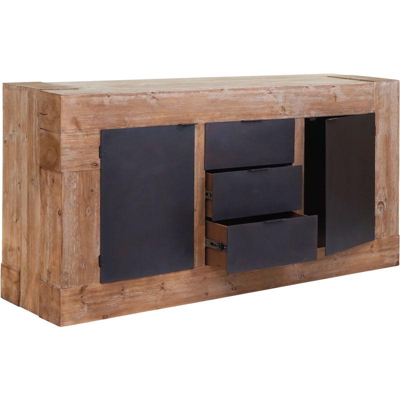Sideboard 758, Kommode Schrank Anrichte, Tanne Holz rustikal massiv 90x160x45cm 67kg - HHG