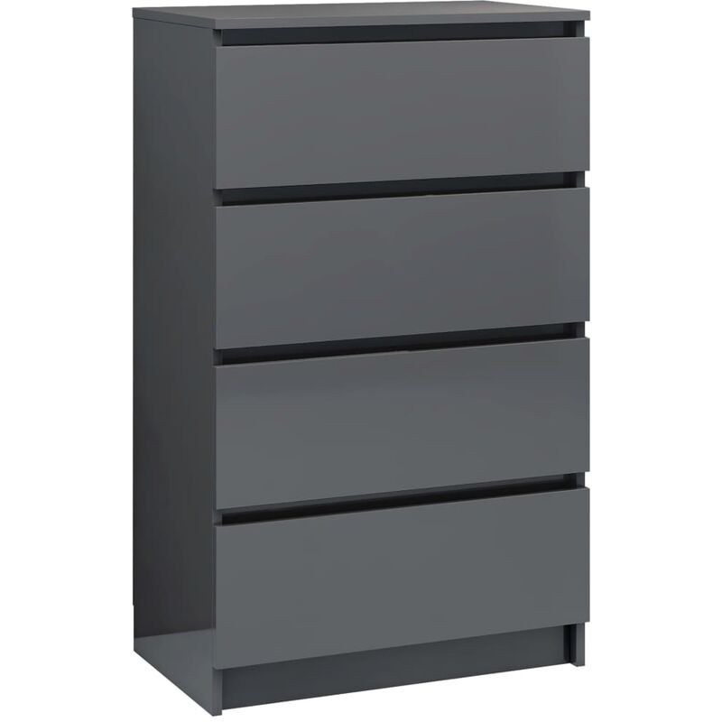 Sideboard Cabinet Modern//Sideboard for Living Room Grey 60x35x76 cm Chipboard with 3 Drawers