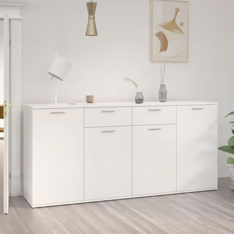 """main image of """"Sideboard High Gloss White 160x36x75 cm Chipboard22700-Serial number"""""""