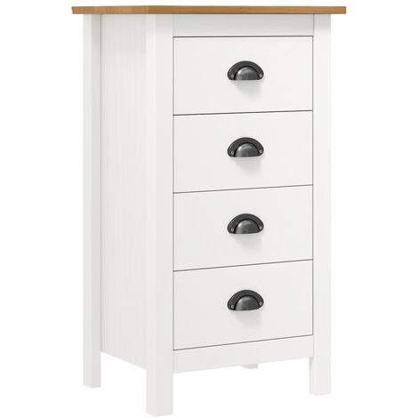 Sideboard Hill Range White 46x35x80 cm Solid Pine Wood