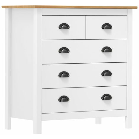 Sideboard Hill Range White 79x40x80 cm Solid Pine Wood