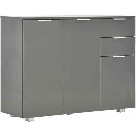 Sideboard Hochglanz-Grau 107 x 35 x 76 cm