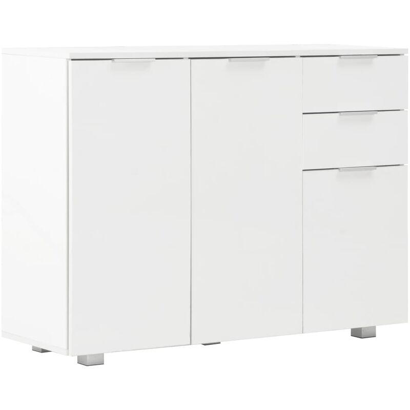 Vidaxl - Sideboard 107x35x76cm Hochglanz-Weiß