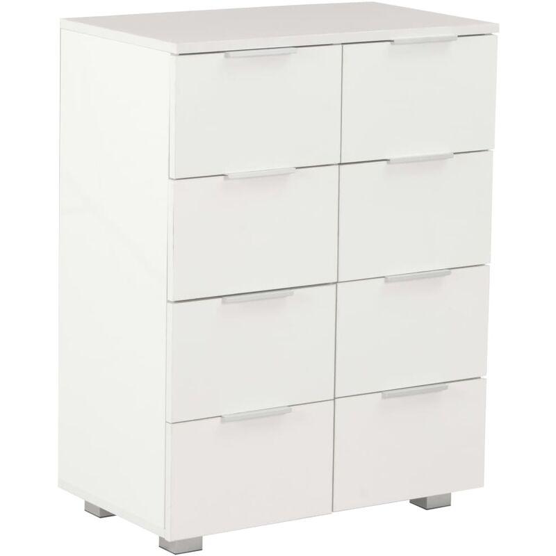 Sideboard Hochglanz Weiß 60×35×76 cm Spanplatte