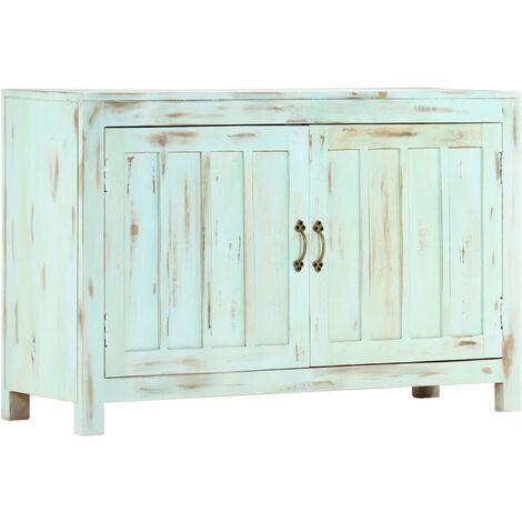 Sideboard Light Blue 110x35x70 cm Solid Mango Wood - Blue