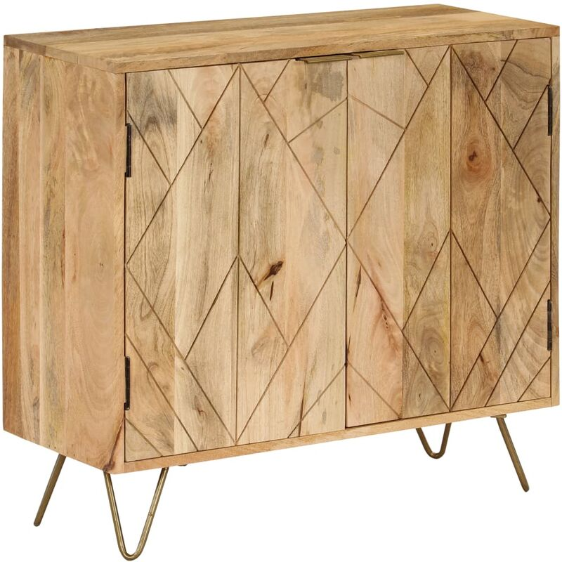 Sideboard Mangoholz Massiv 80 x 30 x 75 cm - ZQYRLAR