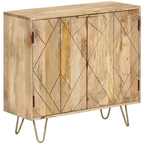 Sideboard Mangoholz Massiv 80 x 30 x 75 cm