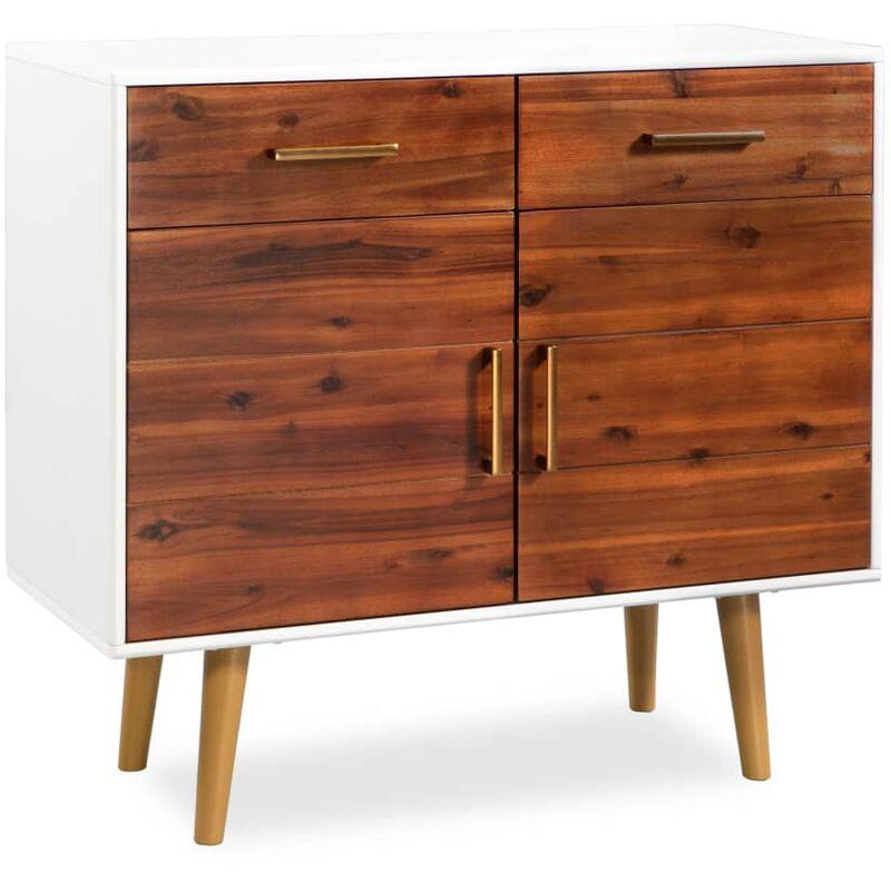 Vidaxl - Sideboard Akazienholz Massiv 90 x 33,5 x 83 cm