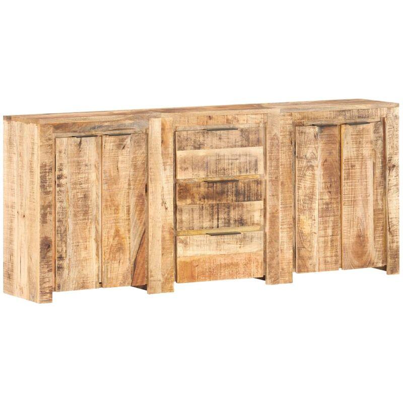 Sideboard mit 3 Schubladen und 4 Türen Mango Massivholz - VIDAXL