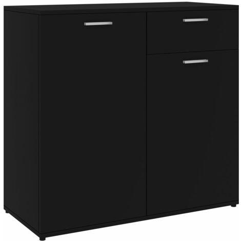 Sideboard Schwarz 80x36x75 cm Spanplatte