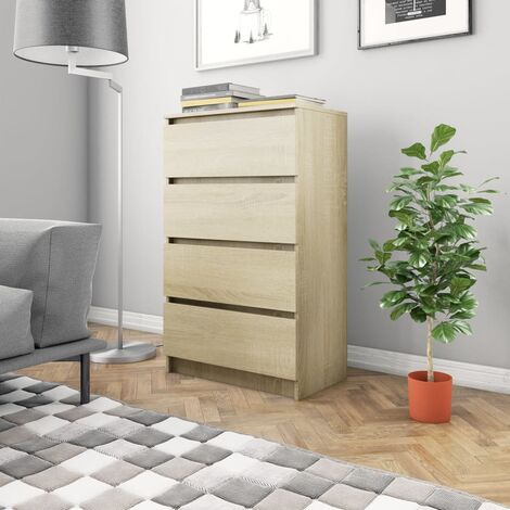 Sideboard Sonoma Oak 60x35x98.5 cm Chipboard