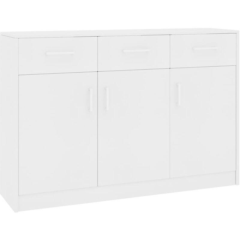 Sideboard 110x34x75cm Spanplatte Weiß - VIDAXL