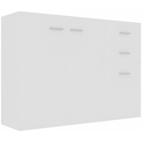 Sideboard White 105x30x75 cm Chipboard