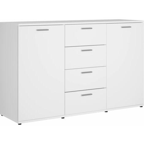Sideboard White 120x35,5x75 cm Chipboard