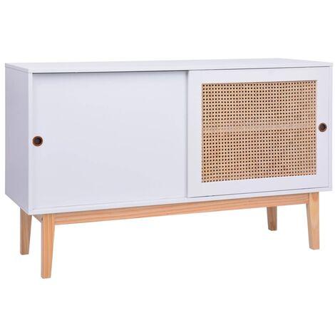 Sideboard White 130x40x80 cm MDF