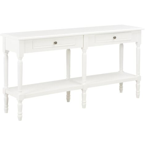 Sideboard White 150x35x77 cm Solid Wood
