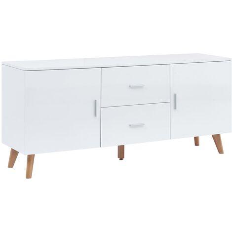 Sideboard White 160x40x70 cm MDF
