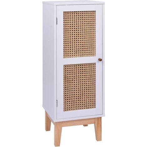 Sideboard White 35x35x100 cm MDF