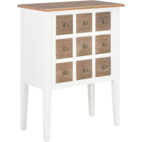 Sideboard White 54x30x80 cm Solid Wood
