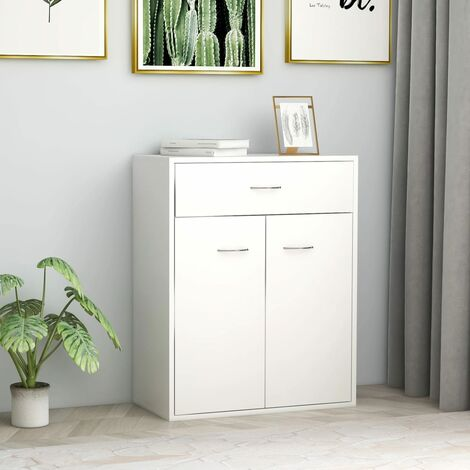 Sideboard White 60x30x75 cm Chipboard