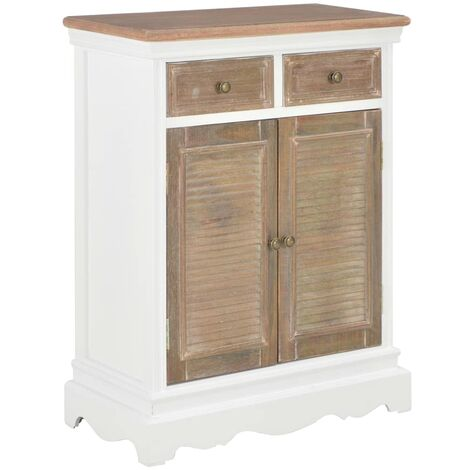 Sideboard White 60x30x80 cm Solid Wood
