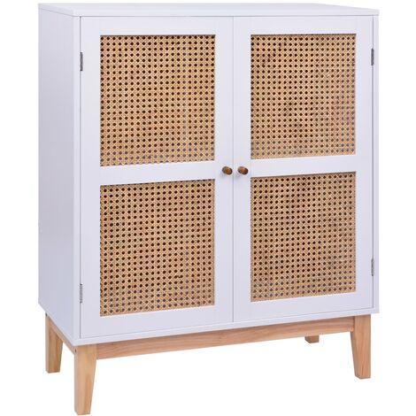 Sideboard White 80x35x100 cm MDF
