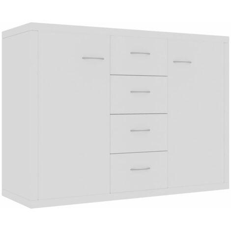Sideboard White 88x30x65 cm Chipboard