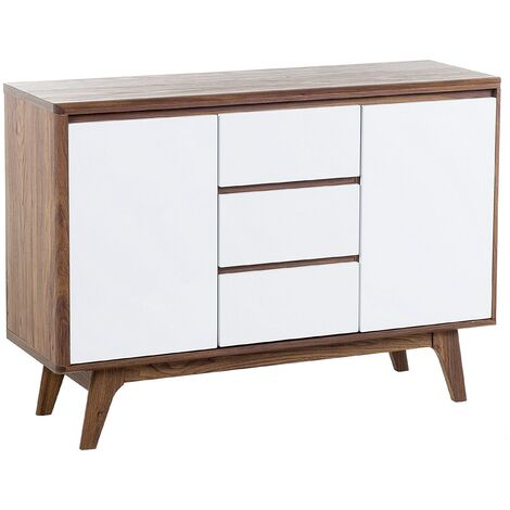 Sideboard White with Dark Wood PITTSBURGH