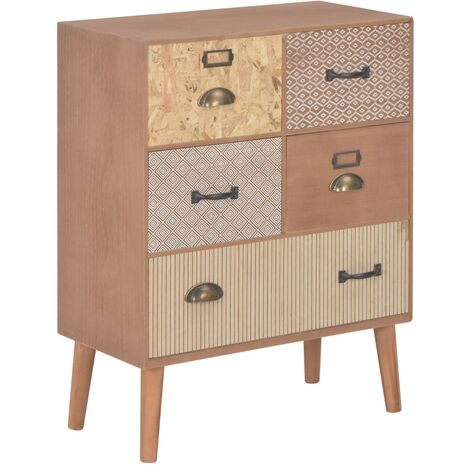 Sideboard with 5 Drawers Brown 60x30x78 cm MDF