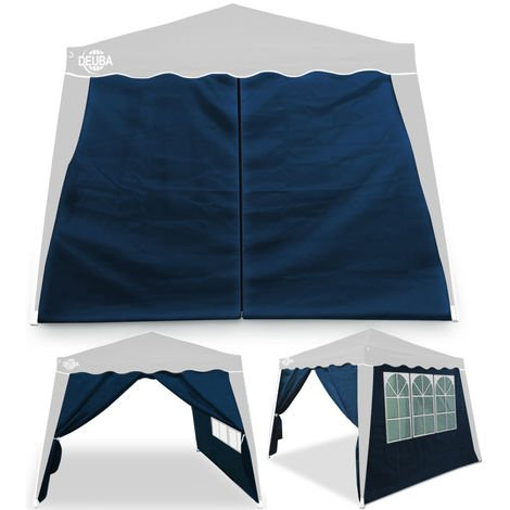 Gazebo 10x10ft Pop Up Garden Marquee Tent Panels Awning Outdoor Party Side Walls 2x Sidewall Blue