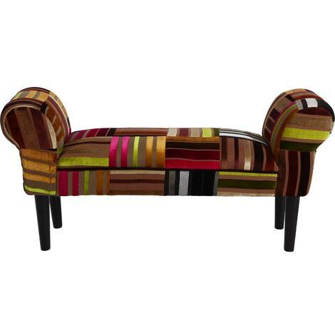Siège banc accoudoirs meubles chambre à manger tabouret en tissu canapé pieds en bois rembourrage BHP B412329