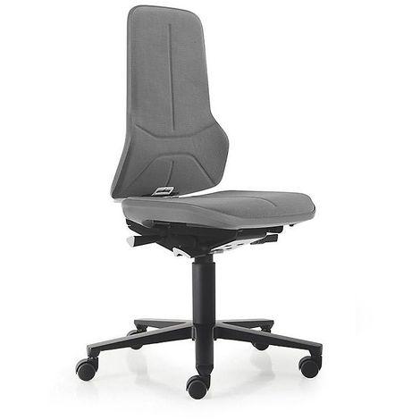 Siège d'atelier NEON, assise en Supertec, gris