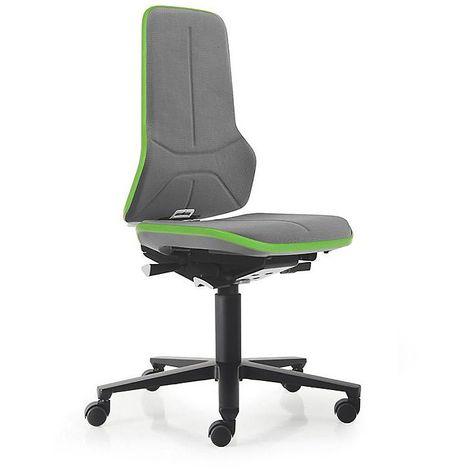 Siège d'atelier NEON, assise en Supertec, gris/vert