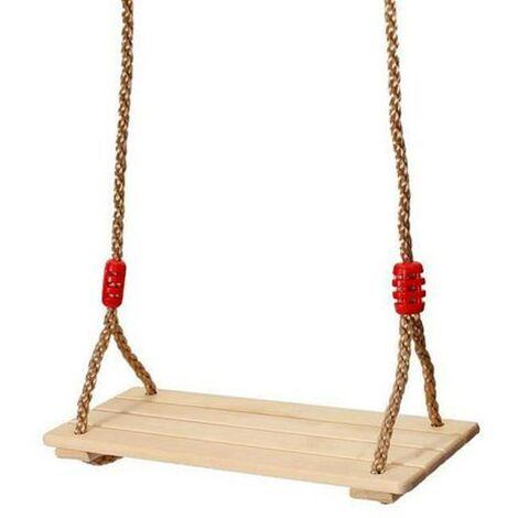 Siège de Balançoire pour enfants 40*16*1.2cm avec planche en Bois dur massif - Couleur bois