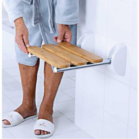 Siège de douche rabattable Bamboo - Non