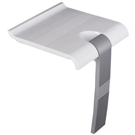 Siège de douche relevable ARSIS blanc pied époxy gris