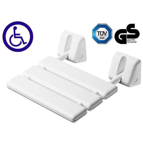 Siège de douche repliable - Décor : Epoxy blanc - ITAR