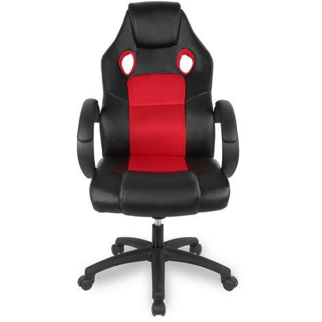 """main image of """"Siège de Gaming Fauteuil Gamer Pro En Similicuir Racing Chaise De Bureau Hauteur Réglable Rouge"""""""