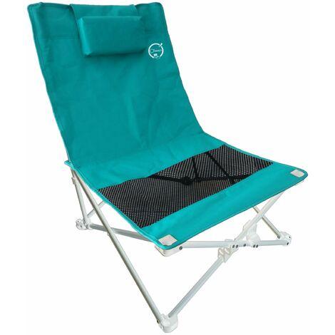 """main image of """"Siège de plage pliable Bleu turquoise avec housse de transport - O'Beach"""""""