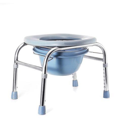 Siège de salle de bains pliable de toilette de chaise de commode de chevet pour les femmes âgées Sasicare