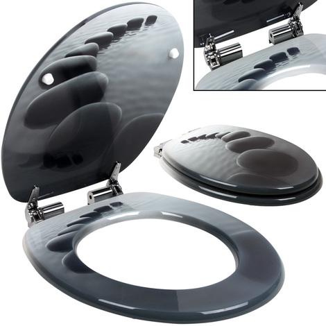 Siège de toilette avec fermeture à amortisseur - Abattant WC - Stonedesign