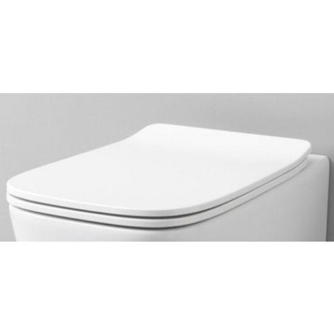 Siège WC avec automatisme de descente en Finition Bois Couvercle De Toilettes Siège de Toilettes Pot