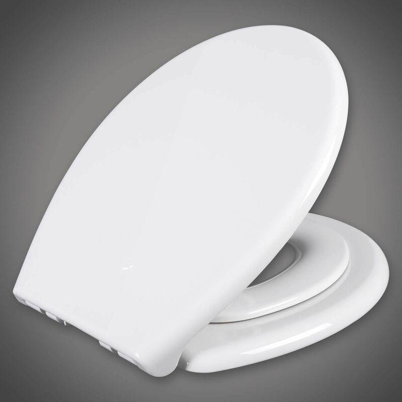 Mercatoxl - MercartoXL Siège de toilette blanc en plastique avec WS2584 doux