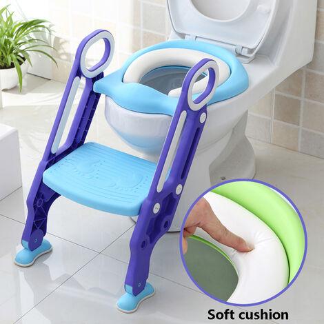 Siège de Toilette Enfant Pliable Réglable Reducteur de Toilette Bébé
