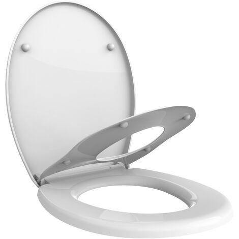 Siège de Toilette Réducteur pour Enfant, Siège de Toilette Familial, 44,8 x 37,1 cm, Forme en O, Matériau: PP