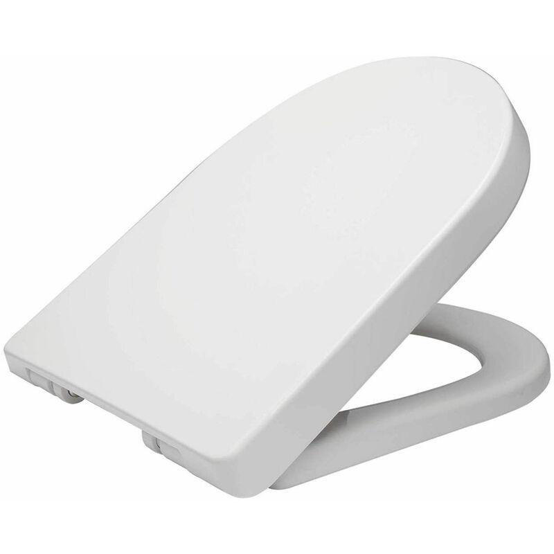 Mercatoxl - MercartoXL siège de toilettes en plastique blanc avec WS2544 soft close
