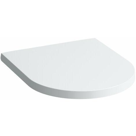 Siège de WC Laufen Kartell avec couvercle, amovible, Coloris: Neige (blanc mat) - H8913327570001